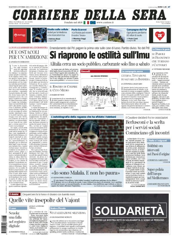 8 ottobre buco1996 nei secoli a chi fedeli for Corriere della sera arredamento