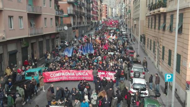 Corteo contro convegno ultradestre a Genova